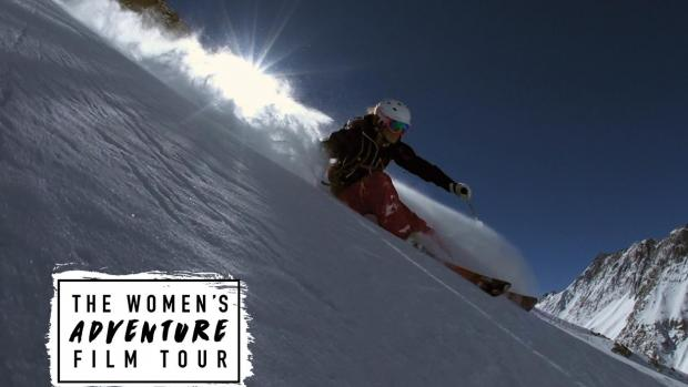 Women's adventure film tour, girl skiing