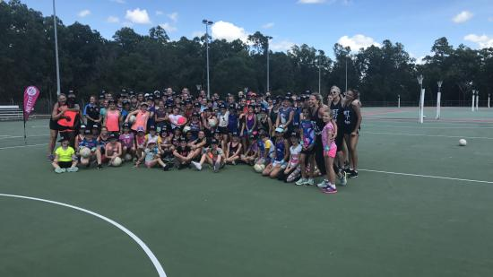 Netfit Darwin coaching clinic group of girls