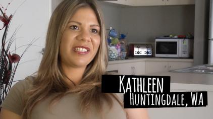 Kathleen quit for her baby and health