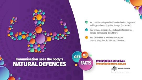 Immunisation uses the body's natural defences